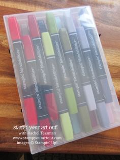 A trick for making this Blendabilities storage solution even more fabulous… #stampyourartout #stampinup - Stampin' Up!® - Stamp Your Art Out! www.stampyourartout.com