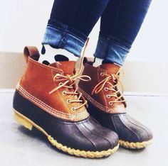 #LLBean Boots and polka dots