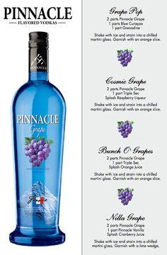 Pinnacle Grape...best drink I ever had was grape vodka, Sierra mist, and a splash of lime! So good