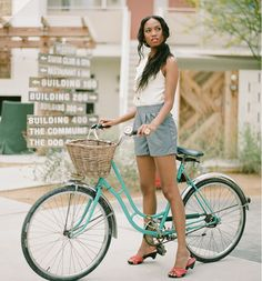 Shop Ruche - Girl on Bike Cycle Chic, Bicycle Girl, Summer Lookbook, Bike Style, Queen, Clothes Horse, Sexy, Summer Outfits, Casual Outfits