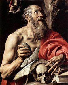 San Gerolamo. 1624-1626. Olio su tela.  80x64. Nelson-Atkins Museum of Art