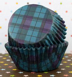 Tartán negro estándar Cupcake Liners por CakeWithLove en Etsy
