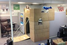 Cubicle Castle complete with drawbridge