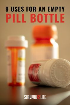 As one of the ultimate survival tips, the pill bottle has many uses. #pillbottle #survivalhacks #survivaltips Ultimate Survival Tips, Survival Hacks, Survival Life, Survival Tools, Pill Bottles, Pills, Empty, Grid, Messages