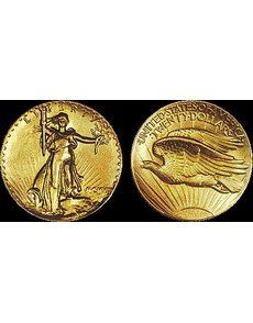 This 1907 Saint-Gaudens, Roman Numerals, Sans Serif Edge, Ultra High Relief double eagle, graded Proof 58, sold for $1,057,500. The coin was one of the first three Ultra High Relief patterns struck and was carried as a pocket piece.