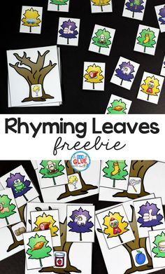 Rhyming Leaves Match-Up Freebie is a quick, hands-on activity to get your students learning and having fun! This free printable is perfect for pre-k, kindergarten, and first grade students. Rhyming Leaves Match-Up Freebie comes with 15 different rhyming c Rhyming Kindergarten, Kindergarten Centers, Kindergarten Literacy, Early Literacy, Phonemic Awareness Kindergarten, Preschool Curriculum, Preschool Learning, Rhyming Activities, Autumn Activities