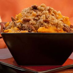 Slow Cooker Sweet Potato Mash is our skinny slow cooker version of sweet potato casserole and it is inredible! #slowcooker #sweetpotatomash #sweetpotatoes