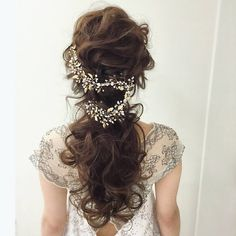 10 Most Amazing Wedding Hairstyles To Look Stunning During Your Weddings Wedding Party Hair, Hairdo Wedding, Wedding Hair Down, Wedding Hair And Makeup, Bridal Hair, Hair Makeup, Wedding Hair Pieces, Dress Hairstyles, Party Hairstyles