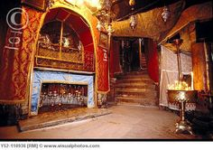Church of the Nativity in Bethlehem, Palestine. It is said that it was built around the place where Jesus was born.