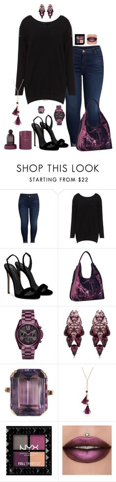 """""""Just plummy- plus size"""" by gchamama ❤ liked on Polyvore featuring KUT from the Kloth, Giuseppe Zanotti, Rebecca Minkoff, Michael Kors, Ellen Conde, Kate Spade and Tadashi Shoji"""