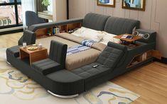 Comfy Bedroom, Bedroom Bed Design, Home Decor Bedroom, Modern Bedroom, Bedroom Furniture, Home Furniture, Furniture Design, Modern Beds, Eclectic Bedrooms