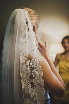 Süßer #Schleier für die #Braut am Tag der #Hochzeit