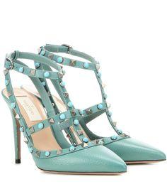 mytheresa.com - Pumps Rockstud Rolling aus Leder - Luxury Fashion for Women / Designer clothing, shoes, bags