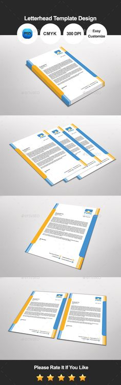 Corporate Letterhead Template Letterhead template and Letterhead - psd letterhead template