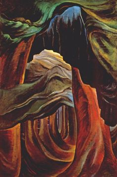 Emily Carr - Forest, British Columbia - Canada, Canadian Oil Painting - Group of Seven Art Print by ArtExpression - X-Small Tom Thomson, Canadian Painters, Canadian Artists, British Columbia, Emily Carr Paintings, Vancouver Art Gallery, Impressionist Paintings, Landscape Paintings, Landscape Art