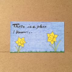 There is a place I know... #daffodils #illustration #poem #drawing #poetry #bicmarkit #tinycanvas  The marker used for the sky started drying out halfway through filling it in so I had to improvise on the strokes giving the sky a bit more texture than originally intended.  First in a series of illustrations for a poem I wrote called Where the Daffodils Grow. The full poem can be found on my blog at http://ift.tt/1S1fBL6