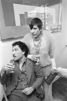 Anna Piaggi & Antonio Lopez at Michael & Tina Chow's wedding, 1972