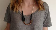 Chock A BlockCopper/Off White by maslojewelry on Etsy, $38.00