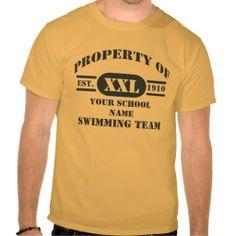 Property of Swimming Team T-Shirt #sport #tshirt