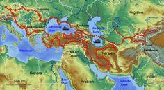 Das wäre meine 3 Monate lange Traumreise ... irgendwann schaffe ich das noch ... Map, 3 Months, Mediterranean Sea, One Day, Location Map, Maps