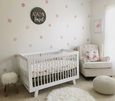 Watercolor polka dots wall decals add the look of a custom-painted wall to any room. Polka Dot Nursery, Polka Dot Wall Decals, Polka Dot Walls, Polka Dots, Girl Room, Girls Bedroom, Girl Nursery, Pink Accent Walls, Ikea Kids Room