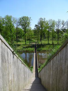 Moses Bridge at Fort de Roovere, Halsteren, Noord-Brabant, The Netherlands Mozesbrug, Halsteren