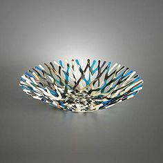 Shop the latest collection of Glass Art Beach Themed Sea Coral Fruit Bowl Ivory Turquoise Blue Brown from the popular stores - all in one Contemporary Glass Coffee Tables, Surf Decor, Blue Beach, Fused Glass Art, Decorating Coffee Tables, Coral Blue, Custom Metal, Beach Themes, Handmade Silver