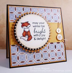 Handmade Greeting Card Blank  by Anna Wight by sweetmissdaisy, $4.95
