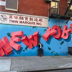 New York Graffiti bei Twin Marquis in der Canal St Its My Living Graffiti Images, New York Graffiti, Best Graffiti, Graffiti Artwork, Graffiti Lettering, Mural Art, Typography, Street Art News, Best Street Art