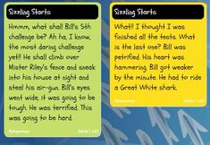 Sizzling Starts, Year 3, Seven Steps to Writing Success, Narrative Story Starters