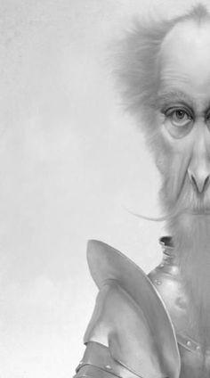 Don Quijote by Iban Barrenetxea Don Quixote Quotes, Man Of La Mancha, Dom Quixote, Don Miguel, Literary Characters, Cool Artwork, Knight, Character Design, Illustration Art