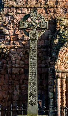 Celtic style cross Lindisfarne Priory by Chris Ashurst on 500px