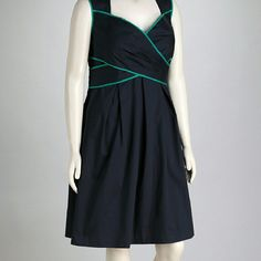 Jessica Simpson Size 20 Navy And Teal Dress