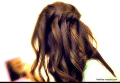 HOW TO WATERFALL BRAID HAIRSTYLES, FRENCH FISHTAIL BRAID HALF-UP UPDO HAIRSTYLE WITH CURLS ON LONG HAIR -