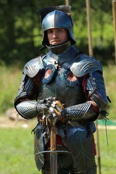 Reenactment: Medieval - The knight time Medieval World, Medieval Knight, Medieval Armor, Medieval Fantasy, Larp, Character Inspiration, Character Art, Costume Armour, Armadura Medieval