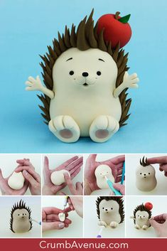 Best Cost-Free Polymer clay crafts for boys Strategies Hedgehog Cake Topper TUTORIAL – Polymer Clay Animals, Cute Polymer Clay, Polymer Clay Crafts, Decoration Birthday, Birthday Cake Decorating, Cake Topper Tutorial, Fondant Tutorial, Fondant Animals Tutorial, Fondant Cake Toppers