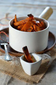 Frites de patate douce au four - Tangerine Zest