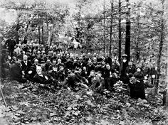 119th Pennsylvania veterans gathered for photographer William Tipton at the dedication of their Gettysburg monument on Big Round Top on Oct. 3, 1885. The monument is one of 69 Gettysburg monuments dedicated to Pennsylvania regiments