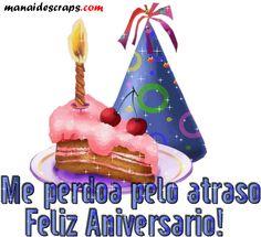 Recado Facebook Atraso Feliz Aniversário