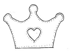 Princess Crown Pattern Use The Printable Outline For Crafts