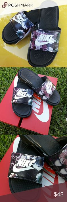 Women's Nike Benassi Duo Ultra Premium Slides Women's Nike Benassi Duo Ultra Premium Slides   Brand New Women's Nike Benassi Duo Premium Slides in a beautiful FloralBlack/White color way in multiplesizes 8,9 Nike Shoes Slippers
