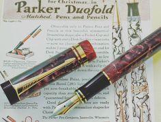 Parker Duofold. International Marbled Maroon #parker #parkerpen #duofold #marbled #fountainpens #nibs #penaddicts #writing #vintage #gold #casadellastilografica by casadellastilografica
