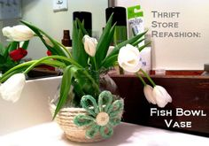 Upcycled for the home on pinterest repurposed side for Fish thrift store