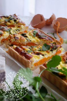 Tarte à la carotte, féta et coriandre