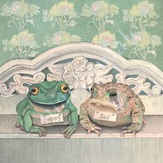 Frogs are Happy, Toads are Sad!    Beautiful Watercolour by Cori Lee Marvin