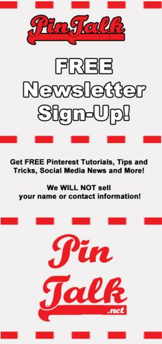 Free #Pinterest Newsletter Sign-Up  Pinterest Tutorials
