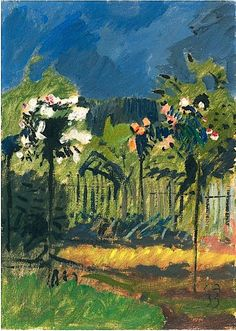 bofransson:  Cuno Amiet - Small Rose-Trees, 1933