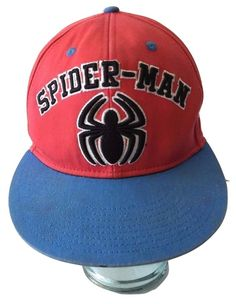 VTG Vintage Look Spiderman Red and Blue Spider Logo Snapback Baseball Cap  Hat Gently pre-owned - Like new. No rips 18a175fc395a