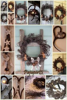 Door Wreaths, Grapevine Wreath, Christmas Time, Christmas Ornaments, Willow Weaving, Natural Christmas, Easter Wreaths, How To Make Wreaths, Natural Materials