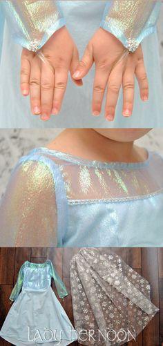 Mein Märchen: Elsa Kleid von Disney ist gefroren in Größen 2 t, 3 t, 4 t, 5, 6, 7, 8 und 10